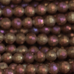 Perle cristal 6mm facette mooka