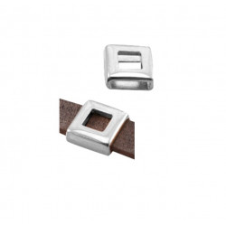 Passant métal 13x13mm carré vide cuir 1cm