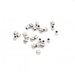 Perle métal tube dessin 3x3mm