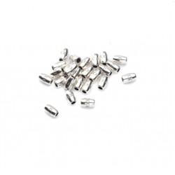 Perle métal tube dessin 5x3mm