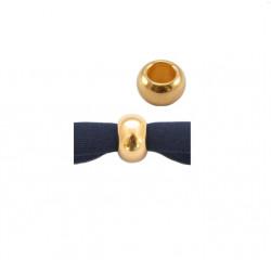 Perle métal doré 9 x 5mm