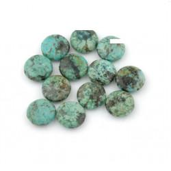 Perle palet Turquoise Afrique 14mm