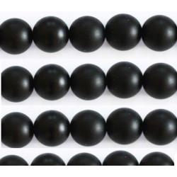 Agate noir mat 10mm