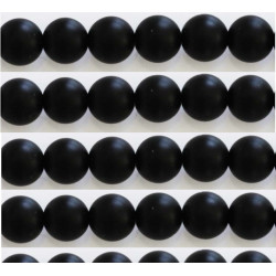 Agate noir mat 8mm