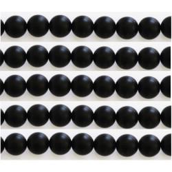 Agate noir mat 6mm