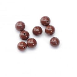 Perle jaspe brun jaspe 8mm