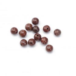 Perle jaspe brun jaspe 6mm