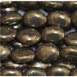 Perle ovale Pyrite petite
