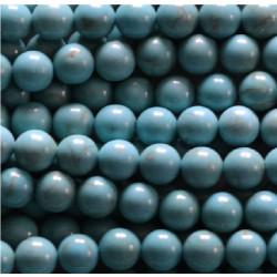Perle Howlite bleu 8mm