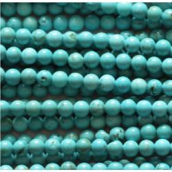 Perle Howlite bleu 6mm