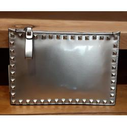 Pochette clous gris métalisé