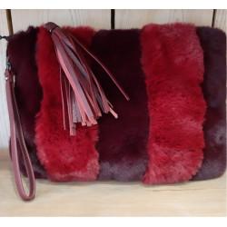 "Pochette sac ""nounours"" rouge"
