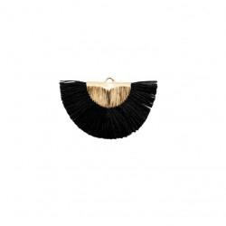 Pendentifs pompon noir doré