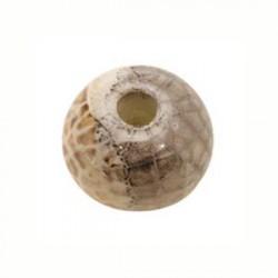 Perle céramique 22mm brun multi émaillé