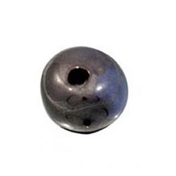 Perle céramique 22mm brun noir émaillé