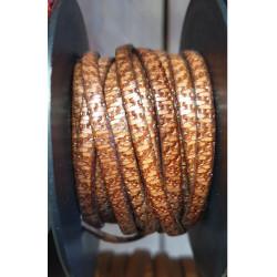 Cuir italien 5mm style Africain marron clair
