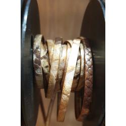 Cuir italien 5mm style python beige pailleté