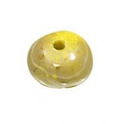 Perle céramique 22mm moutarde émaillé