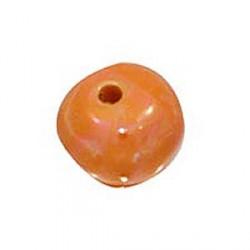 Perle céramique 22mm orange émaillé