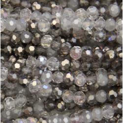 Perle cristal 2mm gris mixte