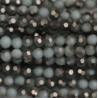 Perle cristal 3mm facette turquoise clair argenté