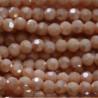 Perle cristal 4mm facette creme rose