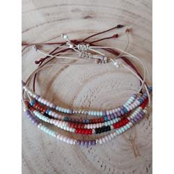 Bracelet cordon et rocailles