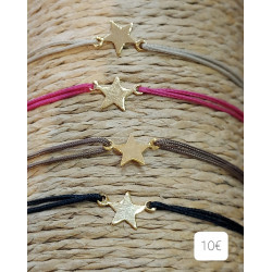 Bracelet cordon étoile