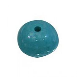 Perle céramique 22mm turquoise émaillé