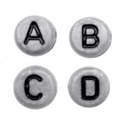 Lettres alphabet acrylique gris et noir (le sachet de 26)