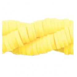 Rondelles polymères 4mm jaune