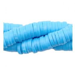 Rondelles polymères 4mm bleu