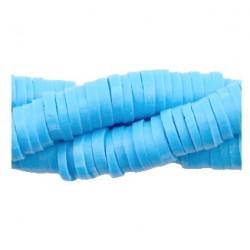 Rondelles polymères 6mm bleu