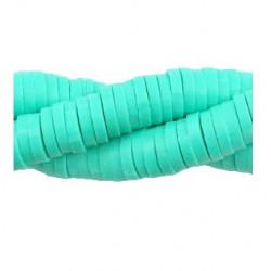 Rondelles polymères 6mm vert indien