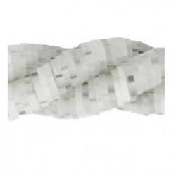 Rondelles polymères 6mm gris transparent