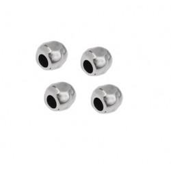 Perle irrégulière 6mm métal argenté