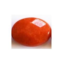 Perle ovale jade orange