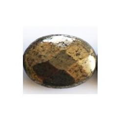 Perle ovale Pyrite