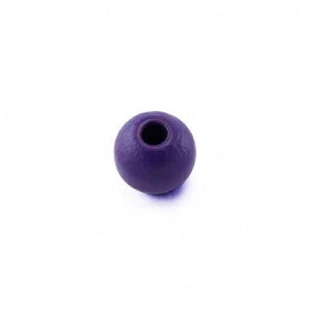 Perles bois 6 mm violet