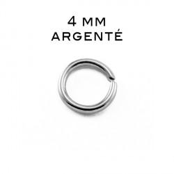Anneau ouvert 0,7 x 4MM argenté