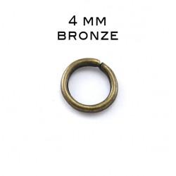 Anneau ouvert 0,7 x 4MM bronze