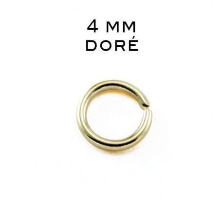 Anneau ouvert 0,7 x 4MM doré