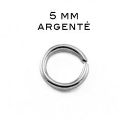 Anneau ouvert 0,7 x 5 MM argenté