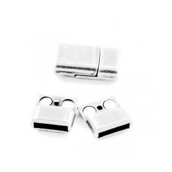 Fermoir magnétique métal 10 argenté
