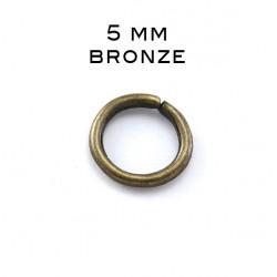 Anneau ouvert 0,7 x 5 MM bronze