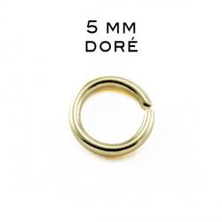 Anneau ouvert 0,7 x 5 MM doré