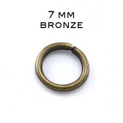 Anneau ouvert 7MM bronze