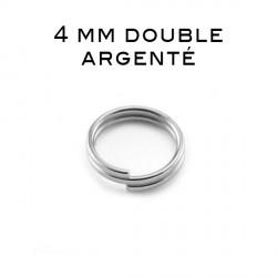 Anneaux doubles 4 MM argenté
