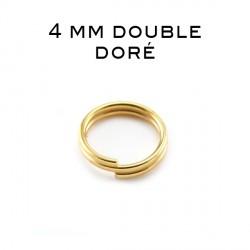 Anneaux doubles 4 MM doré