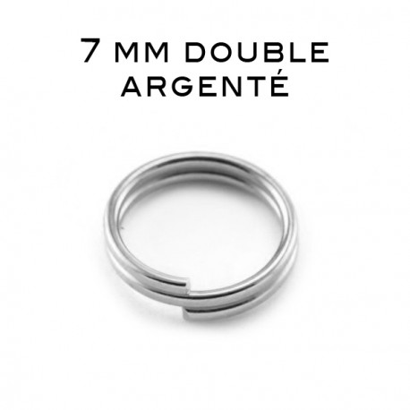Anneaux doubles 7 MM argenté